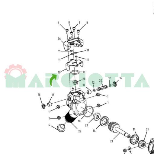0156.0124 Piastrina inox campagnola