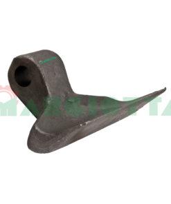 Mazza per trincia , diametro foro 18,5 larghezza attacco superiore 40 larghezza taglio lama 137 raggio 95