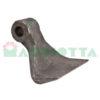 Mazza per trincia , diametro foro 16,5 larghezza attacco superiore 40 larghezza taglio lama 120 raggio 110