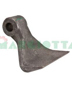 Mazza per trincia , diametro foro 25,5 larghezza attacco superiore 40 larghezza taglio lama 120 raggio 110