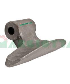 Mazza per trincia , diametro foro 16,5 larghezza attacco superiore 70 larghezza taglio lama 185 raggio 88