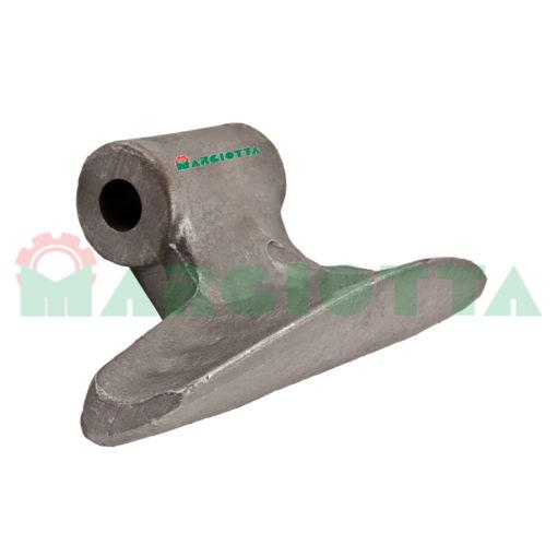 Mazza per trincia , diametro foro 20,5 larghezza attacco superiore 70 larghezza taglio lama 185 raggio 88