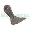 Mazza per trincia , diametro foro 14,5 larghezza attacco superiore 17 larghezza taglio lama 110 raggio 105