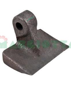 Mazza per trincia , diametro foro 16,5 larghezza attacco superiore 30 larghezza taglio lama 105 raggio 82