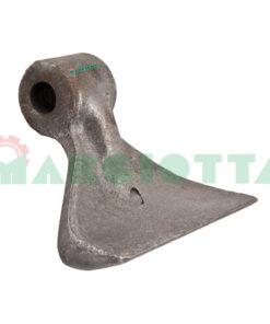 Mazza per trincia , diametro foro 16,5 larghezza attacco superiore 40 larghezza taglio lama 137 raggio 100