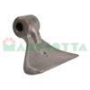 Mazza per trincia , diametro foro 18,5 larghezza attacco superiore 40 larghezza taglio lama 137 raggio 100