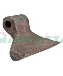 Mazza per trincia , diametro foro 20,5 larghezza attacco superiore 60 larghezza taglio lama 150 raggio 88