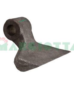 Mazza per trincia , diametro foro 19,5 larghezza attacco superiore 40 larghezza taglio lama 120 raggio 90