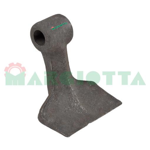 Mazza per trincia , diametro foro 16,5 larghezza attacco superiore 42 larghezza taglio lama 105 raggio 120