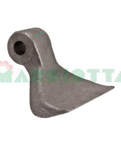 Mazza per trincia , diametro foro 16,5 larghezza attacco superiore 40 larghezza taglio lama 116 raggio 100