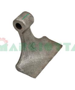 Mazza per trincia , diametro foro 16,5 larghezza attacco superiore 40 larghezza taglio lama 130 raggio 110