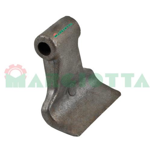 Mazza per trincia , diametro foro 13,5 larghezza attacco superiore 44 larghezza taglio lama 80 raggio 82