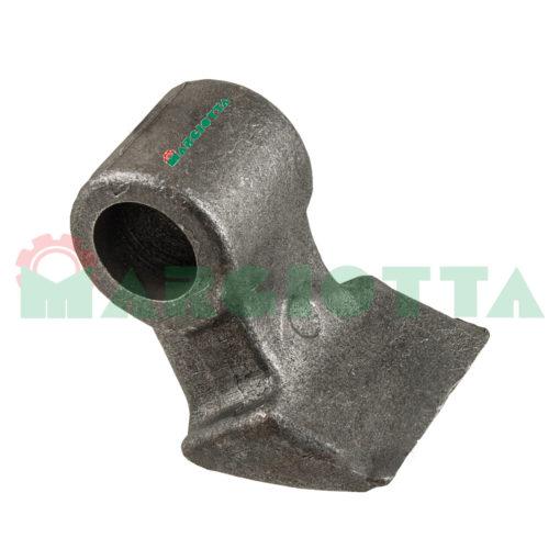 Mazza per trincia , diametro foro 25,5 larghezza attacco superiore 44 larghezza taglio lama 60 raggio 70