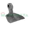 Mazza per trincia , diametro foro 14,5 larghezza attacco superiore 10 larghezza taglio lama 62 raggio 62