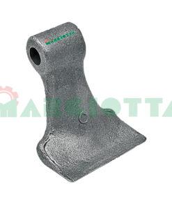 Mazza per trincia , diametro foro 14,5 larghezza attacco superiore 30 larghezza taglio lama 110 raggio 85