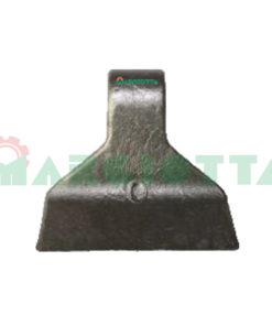 Mazza per trincia , diametro foro 16,5 larghezza attacco superiore 37 larghezza taglio lama 118 raggio 95