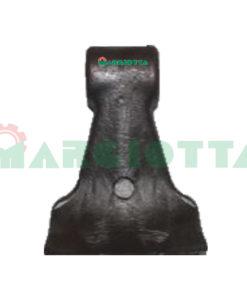 Mazza per trincia , diametro foro 16,5 larghezza attacco superiore 40 larghezza taglio lama 84 raggio 116