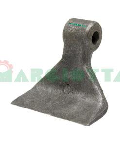 Mazza per trincia , diametro foro 16,5 larghezza attacco superiore 41 larghezza taglio lama 90 raggio 122