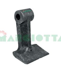 Mazza per trincia , diametro foro 16,5 larghezza attacco superiore 44 larghezza taglio lama 90 raggio 120