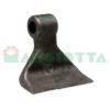 Mazza per trincia , diametro foro 18,5 larghezza attacco superiore 40 larghezza taglio lama 130 raggio 111