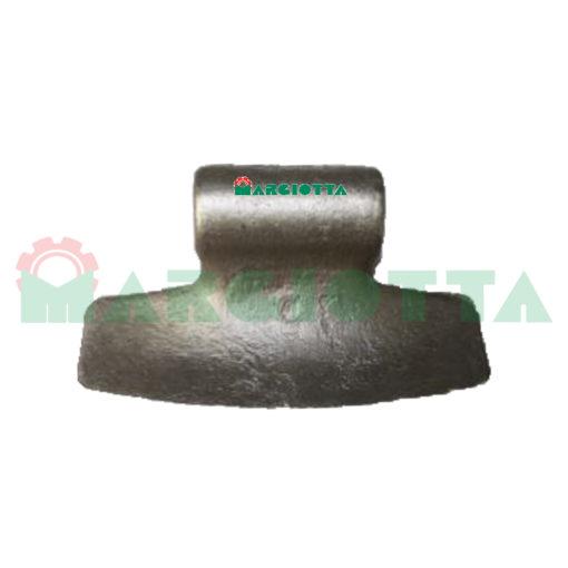 Mazza per trincia , diametro foro 20,5 larghezza attacco superiore 87 larghezza taglio lama 205 raggio 87