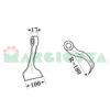 Mazza per trincia , diametro foro 25,5 larghezza attacco superiore 17 larghezza taglio lama 100 raggio 180