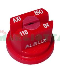 Ugello a ventaglio Albuz AXI 110° rosso