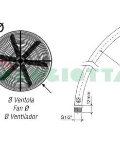 Coppie Aste curve in acciaio Inox 304