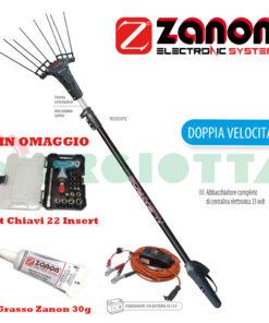 Abbacchiatore elettrico Zanon Albatros F - AL 200 AL 300 a 33 Volt telescopico